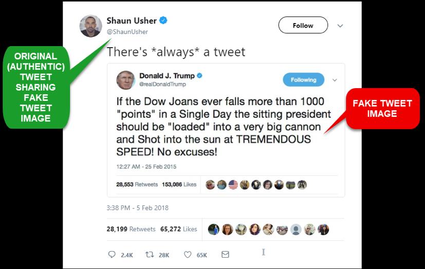Fake Trump tweet dissected