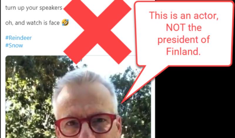 Viral rumor rundown president of Finland fake